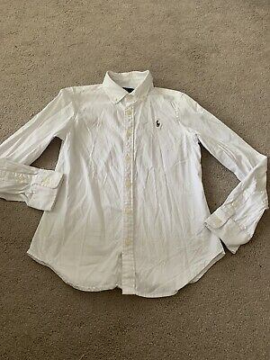 girls age 12 white POLO RALPH LAUREN Fitted blouse VGC