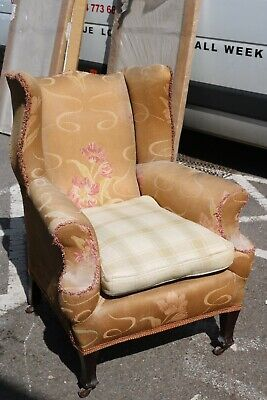 Victorian Country House Wing Back Arm Chair Armchair Fire Side Queen Anne