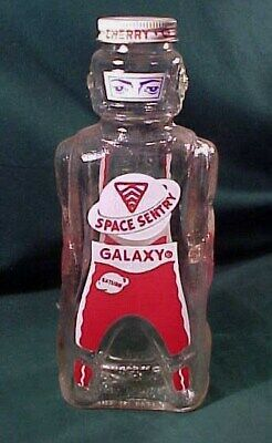 1950's Bank Bottle Space Sentry Man Galaxy Syrup, Space Foods Co. Baltimore Md.