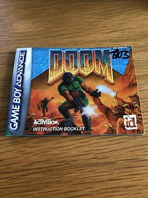 Gameboy Advance Doom Manual Only