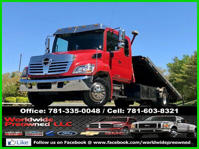 2010 Hino 258 Roll Back Car Carrier Flat Bed Tow Truck 7.6L Hino Turbo Diesel