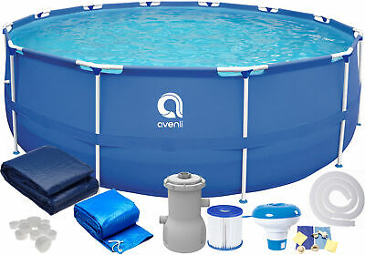 16in1 AVENLI SWIMMING POOL PUMP 305cm 10FT Best way for Garden Relax Round JILON