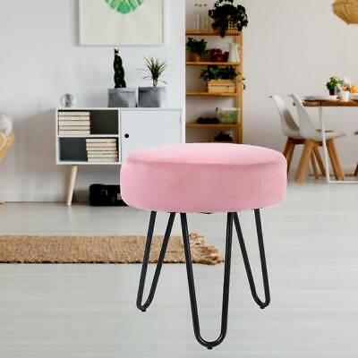 Retro Velvet Round Stool Dressing Small Stool Chair Ottoman Footstool Guest Seat