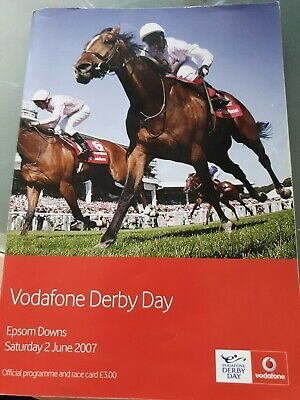 Epsom Derby Day 2007 Racecard AUTHORIZED FRANKIE DETTORI