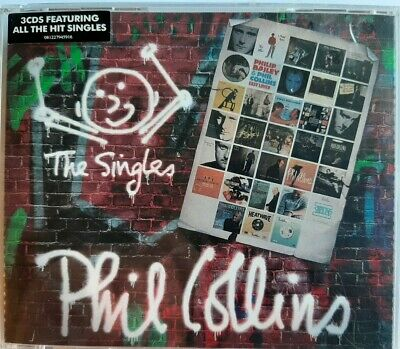 Phil Collins The Singles 3CD Set 2016 New Factory Sealed FREEPOST