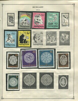 Large Hungary On Scott Album Pages 1960 To 1973!