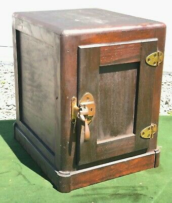 Antique 1880's 'THE JEWETT HUMIDOR' Cigar Humidor / Oak Lined Chest BEAUTY!