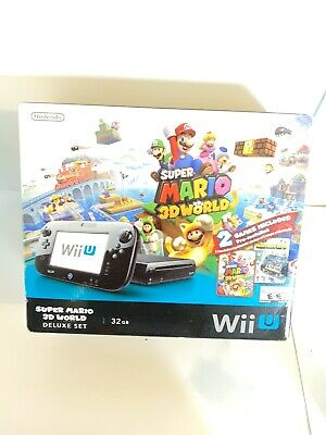 Nintendo Wii U Super Mario 3D World Deluxe Set BOX ONLY & Inserts Nice