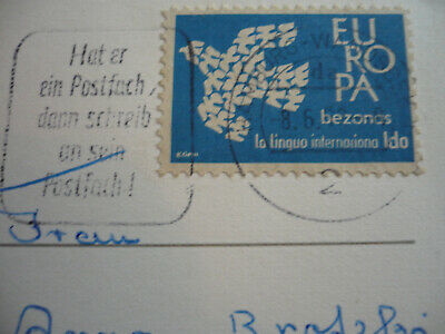 Postal History - Europa 1961 - Ido Cinderella used as Postage in Germany