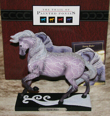 TRAIL OF PAINTED PONIES Storm Rider 3E/9324~Horse with Z-Bolts of Lightning~NIB~