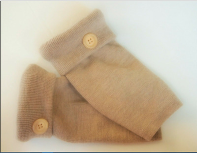 Fingerless Gloves Tan Brown 100%  Merino Wool Women's One Size Fits Most S M L