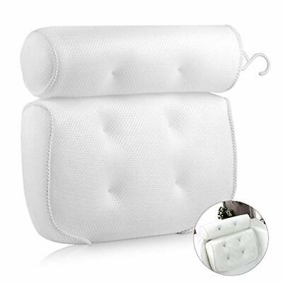EXTSUD Bathroom Pillow, Non-Slip 6 Large Suction Cups, Waterproof Home Bath