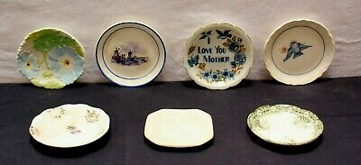 (Lot of 7) Assorted Unmarked Vintage Butter Pats & Dishes