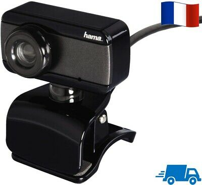 Hama Webcam d'Ordinateur USB 640 x 480 Pixels pour PC Mac Camera Micro Video FR