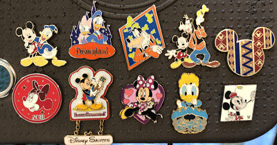Disney Pin Trading Lot Of 10 Minnie Mickey Mouse Donald Goofy Daisy Fab 5