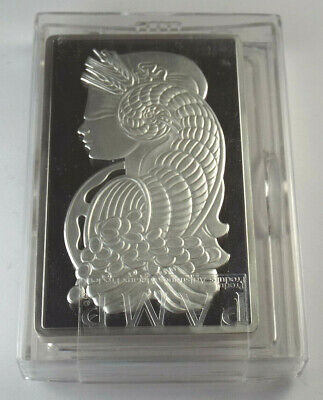 PAMP Suisse Lady Fortuna 10 oz Fine .999 Silver with Box & Assay Certificate