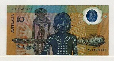 AUSTRALIA ~ 1988 ~ $10 COMMEMORATIVE NOTE~UNCIRCULATED~WITH FOLDER 1st POLYMER