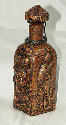 Vintage 1960's Leather Embossed Don Quixote Bottle/Decanter from Spain EX+