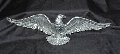 "American Eagle 18"" Wide Cast Metal Wall Hanging Bold Patriotic House Decor EX"