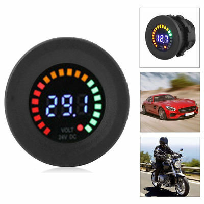 LED Car Van Boat Marine Voltmeter Voltage Meter Waterproof 12V Battery Gauge