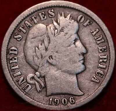 1906-O New Orleans Mint Silver Barber Dime