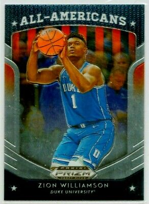 ZION WILLIAMSON 2019-20 Panini Prizm DP All-Americans #100 (Blue Jersey) RC MINT