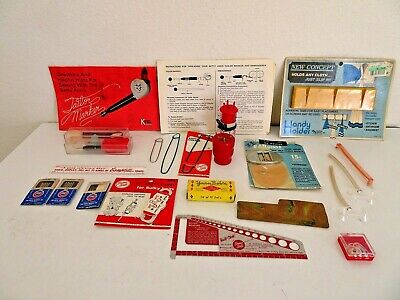 Vintage lot of sewing  knitting notions needles tailor markers yarn winder