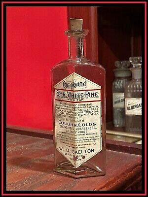 ~KILLER~ Apothecary Syrup White Pine Compound CHLOROFORM, MORPHINE, BLOODROOT