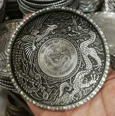 Collection China OLD  Tibetan silver  Chinese Silver coin  plates RN  e324