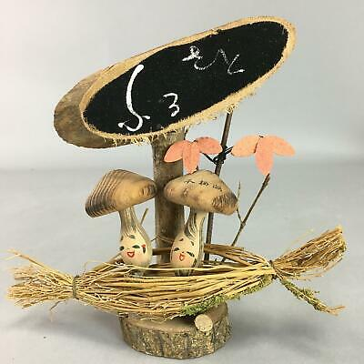 Japanese Kokeshi Doll Vtg Wooden Figurine Mushroom Lake Motosu KF308
