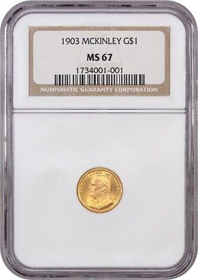 1903 McKinley G$1 NGC MS67 - Classic Commemorative - Gold Coin