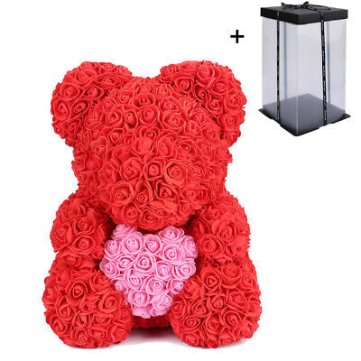 40cm Rose Bear Foam Flower Lovely Teddy Christmas Valentine Birthday Gift Hot