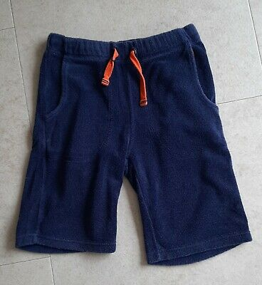 Boys Mini BODEN Towelling Shorts, Age 8 Years. Navy Blue