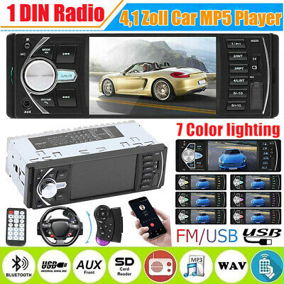 "Kamera + Autoradio 7"" Touchscreen Bildschirm Bluetooth USB SD 1DIN Radio MP5 MP3"
