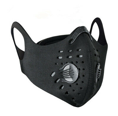 Sports Anti-Pollution Breathable,Cycling, Face Protection with Filter Black