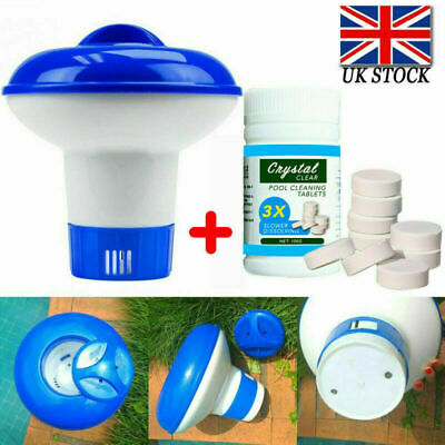 Tablet Floating Chlorine Hot Tub Chemical Dispenser 100 Tablets Pool Cleaning