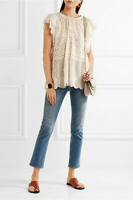 Bnwt Stella Mccartney Runway Tulle Ivory Lace Anglais Broidery Blouse Top £1300