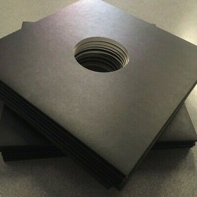 """12"""" Black 3mm Spined Record Sleeves for Albums / EP's - Pack of 25 - Free Post"""