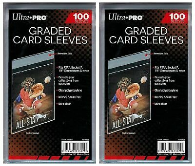 200 Ultra Pro Resealable Graded Card Sleeves
