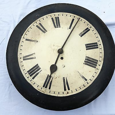 "Antique Chain Fusee Dial Clock with an 18"" Metal Dial & Surround Clean Movement"