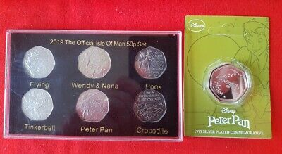 2019 Official Isle of Man Peter Pan 50p Set Coin Collection FREE POSTAGE
