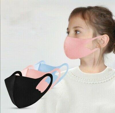 2 x Kids Children Thin Face Mask Washable Reusable (1 Pink,1 Grey) 6-12 yrs UK