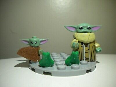 Custom Baby Yoda and CHILD Mini action figures w Lego Frog Star Wars Mandalorian