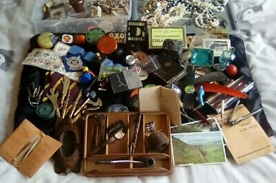 VINTAGE CURIOS JOBLOT collectables house clearance antique retro chic old mixed