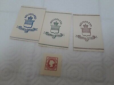 old HELIGOLAND  stamps LOT of 4 MNH