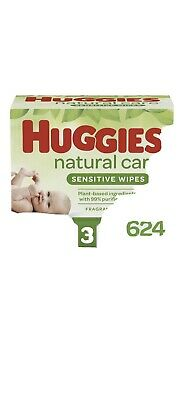 Huggies Natural  care baby wipes 624 Counts