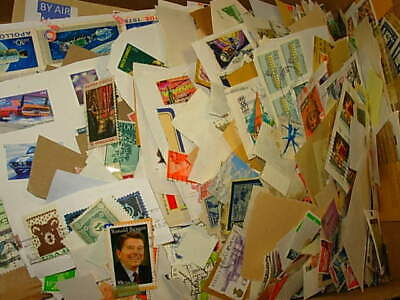 Box Of Us And Ww Stamps On / Off Paper 2 Lbs!