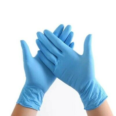 100 GUANTI MONOUSO in NITRILE BLU DISPOSABLE GLOVES  TAGLIA: S M XL