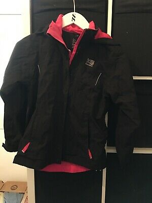 Karrimor Girls Aged 11-12 Black and Pink Coat (I5)