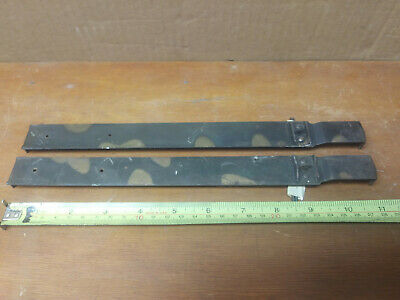 barrister bookcase bands straps  (1 pair) w/ original nails D10-1/4